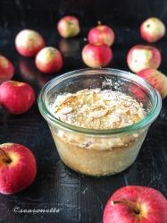Apfel-Mandel-Marzipan-Kuchen im Weckglas, glutenfrei
