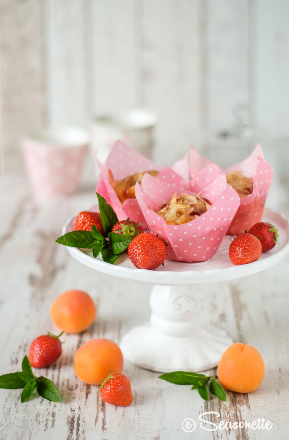 Erdbeer-Aprikosen-Muffins
