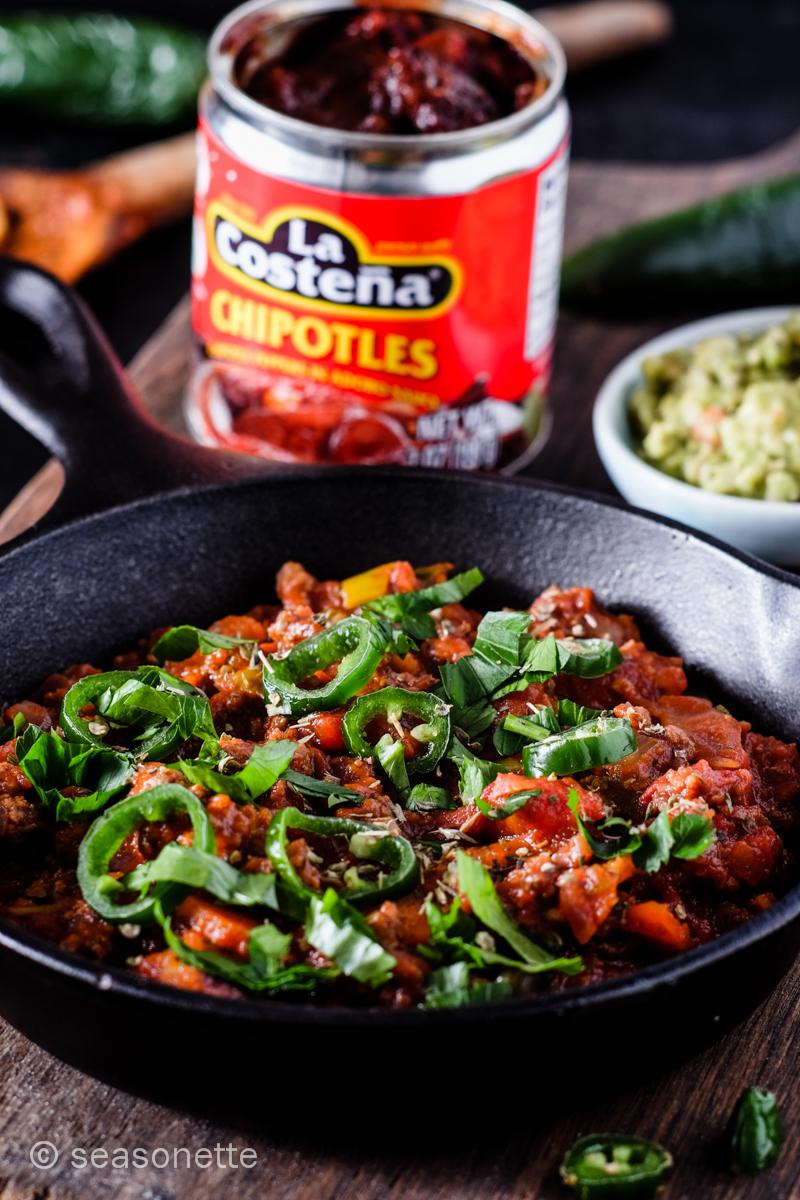 Mexikanisches Hackfleisch mit Chipotle